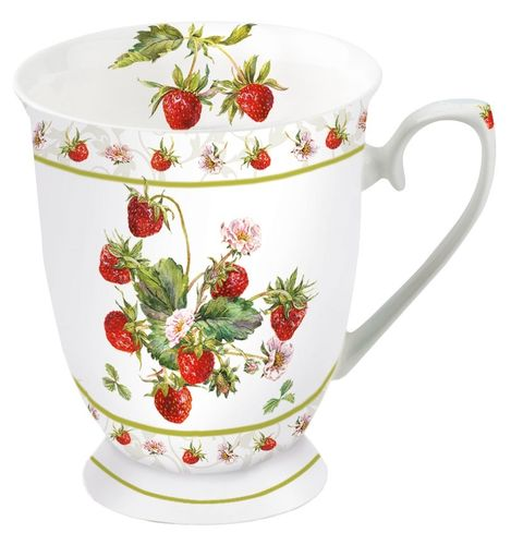 Tasse, Porzellantasse FRESH STRAWBERRIES 0,25l Ambiente