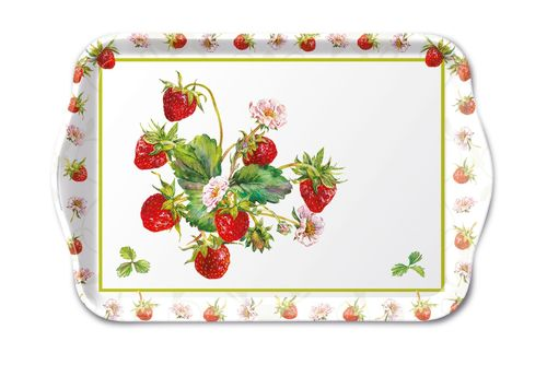 Tablett, Tray FRESH STRAWBERRIES 13x21cm  Ambiente