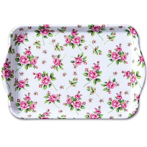 Tablett, Tray EVELYN white 13x21cm  Ambiente