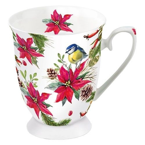 Tasse, Porzellantasse BIRD ON POINSETTIA 0,25l Ambiente