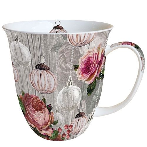 Tasse, Porzellantasse ROSES AND BAUBLES 0,4l Ambiente