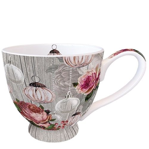 Tasse, Porzellantasse ROSES AND BAUBLES 0,45l Ambiente