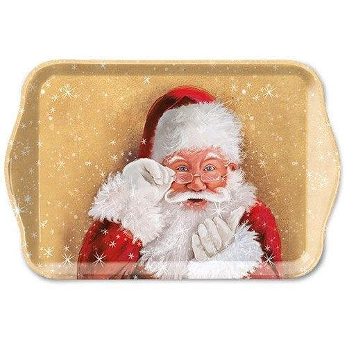 Tablett, Tray WATCH THIS / SANTA 13x21cm  Ambiente