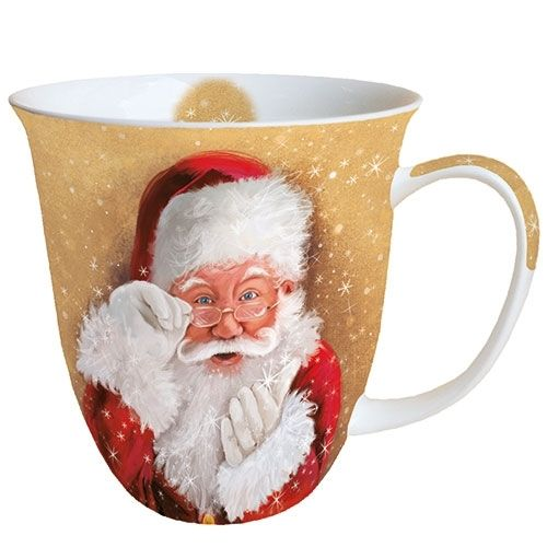 Tasse, Porzellantasse WATCH THIS / SANTA 0,4l Ambiente