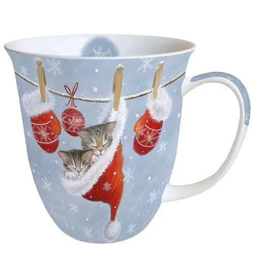 Tasse, Porzellantasse JUST SLEEPY / Katzen 0,4l Ambiente