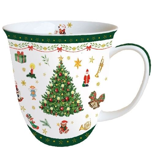Tasse, Porzellantasse CHRISTMAS evergreen 0,4l Ambiente