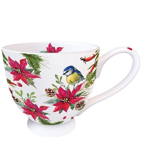 Tasse, Porzellantasse BIRD ON POINSETTIA  0,45l Ambiente