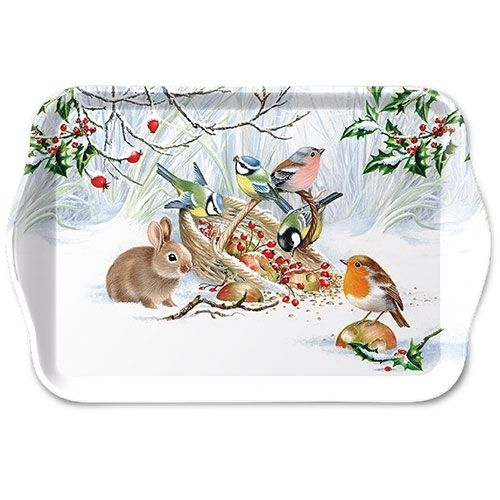 Tablett, Tray WINTER TREAT 13x21cm  Ambiente