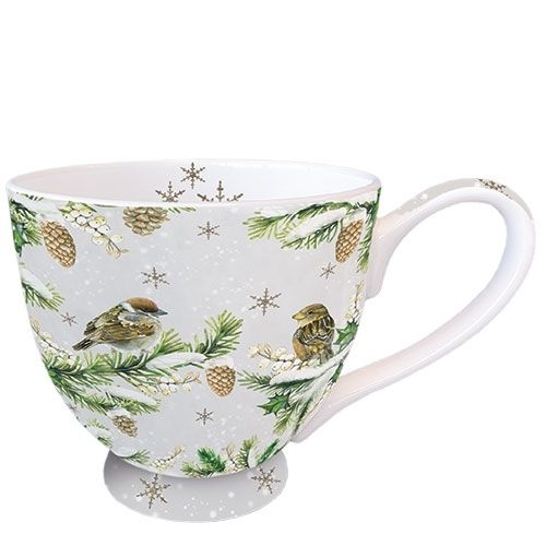 Tasse, Porzellantasse SPARROWS IN SNOW 0,45l Ambiente