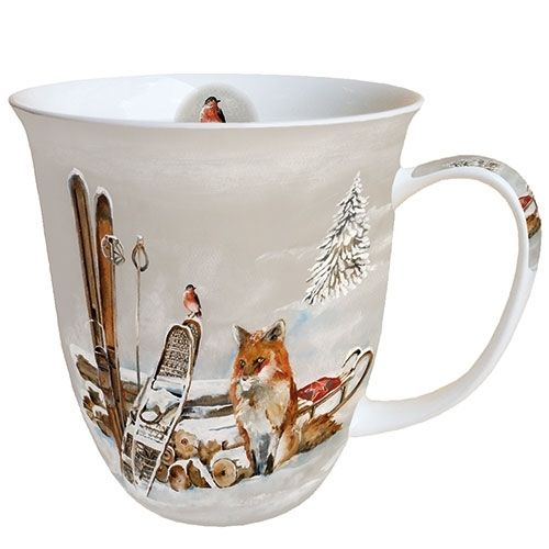 Tasse, Porzellantasse FOX AND BIRD 0,4l Ambiente