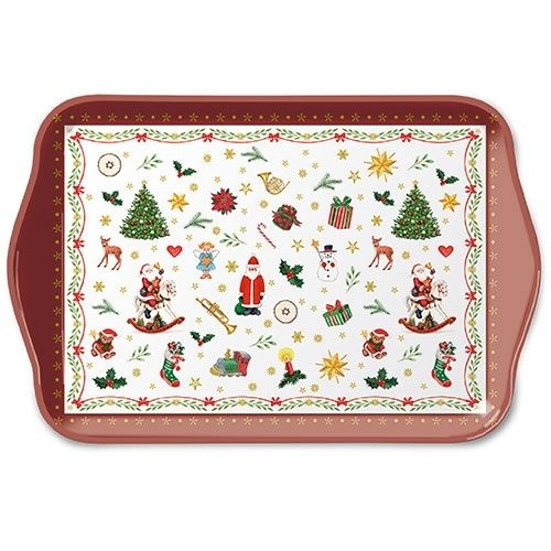 Tablett, Tray ORNAMENTS ALL OVER 13x21cm  Ambiente