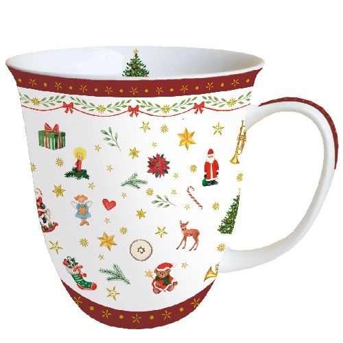 Tasse, Porzellantasse ORNAMENTS ALL OVER 0,4l Ambiente